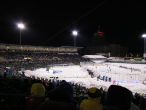 baseball stadium hockey