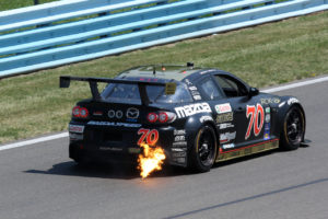 Mazda Racing backfire