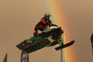 Snocross with a rainbow?