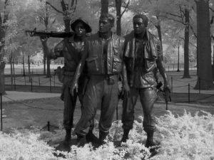 three servicemen infrared