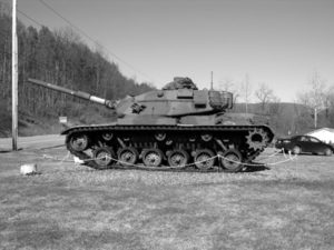 Tank, Naples NY, B/W